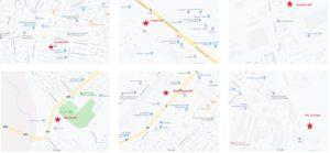Адреса КНС отмечнные красными звездами. Куда отвозят выкачка ям Херсон